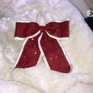 Red Sequenced Cheer Bow !